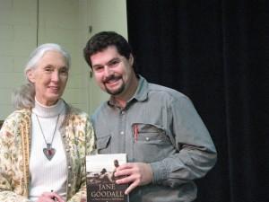 Michael Shapiro with world's leading expert on chimpanzees Jane Goodall